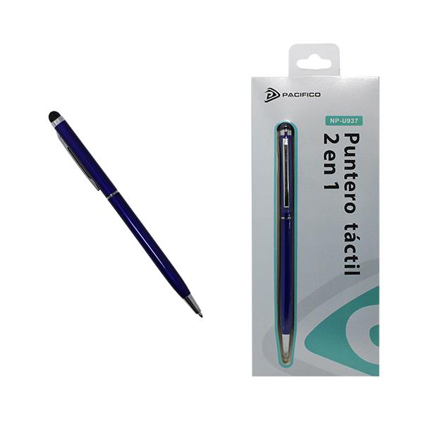 Puntero 2 en 1, táctil y bolígrafo np-u937 -azul 1