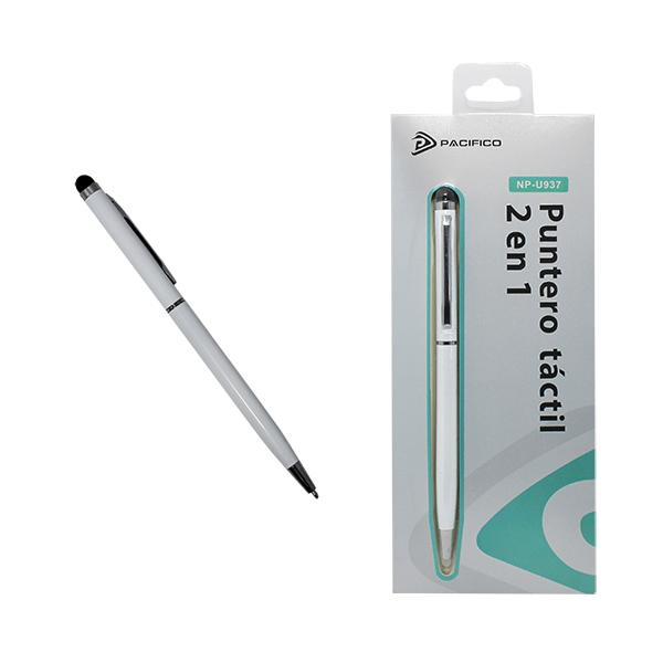 Puntero 2 en 1, táctil y bolígrafo np-u937 -blanco 1