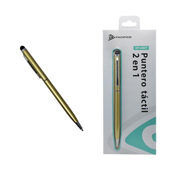 Puntero 2 en 1, táctil y bolígrafo np-u937 -dorado 1