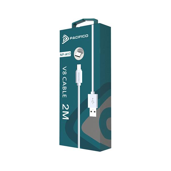 Cable micro usb v8 de 2m np-i417 3