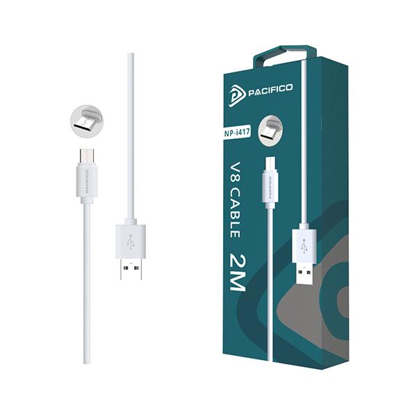 Cable micro usb v8 de 2m np-i417 1