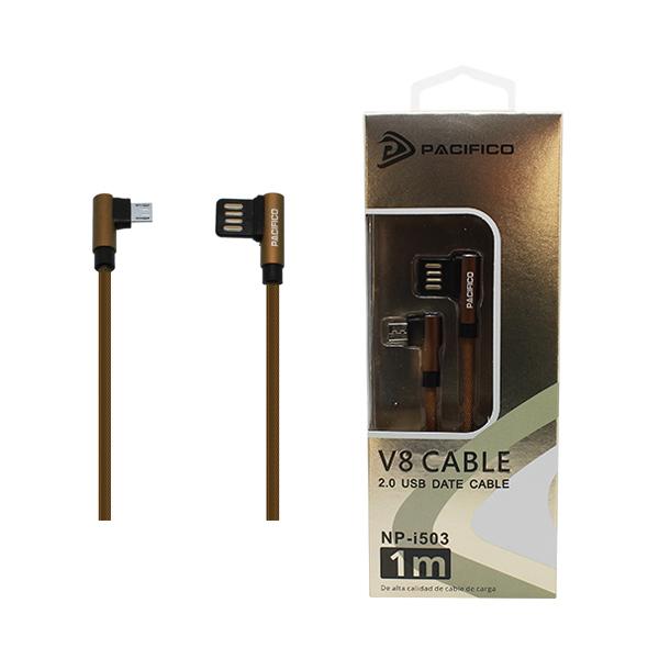 Cable micro usb v8 – usb 1m np-i503 marrón 1