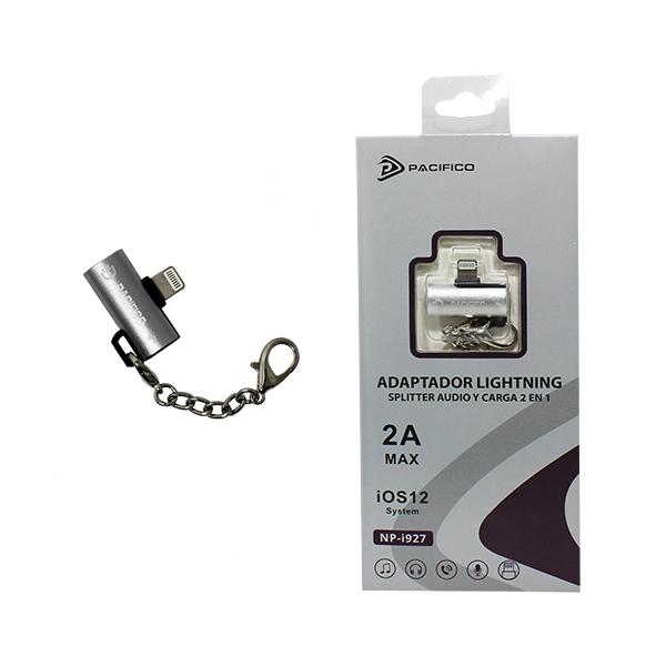 Adaptador doble: audio y carga lightning np-i927 – pack 12uds 3