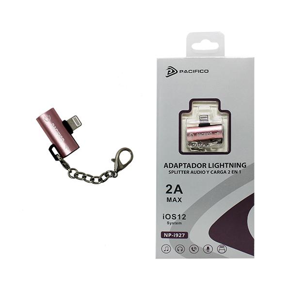Adaptador doble: audio y carga lightning np-i927 – pack 12uds 2
