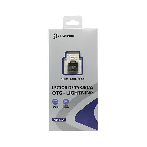 Lector de tarjetas micro sd conector lightning np-i951 -gris 4