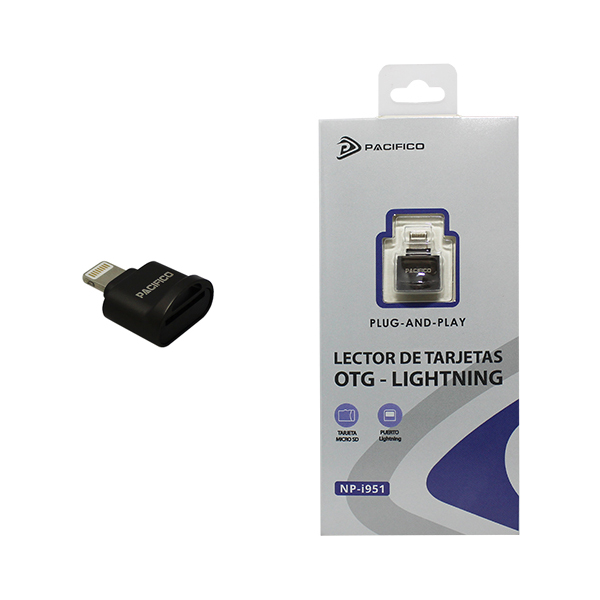 Lector de tarjetas micro sd conector lightning np-i951 -gris 1