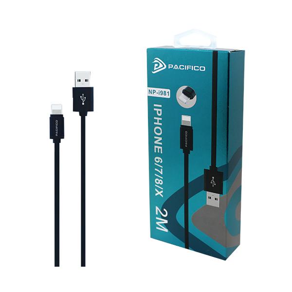 Cable para iphone 6/7/8/x de 2m np-i981 1