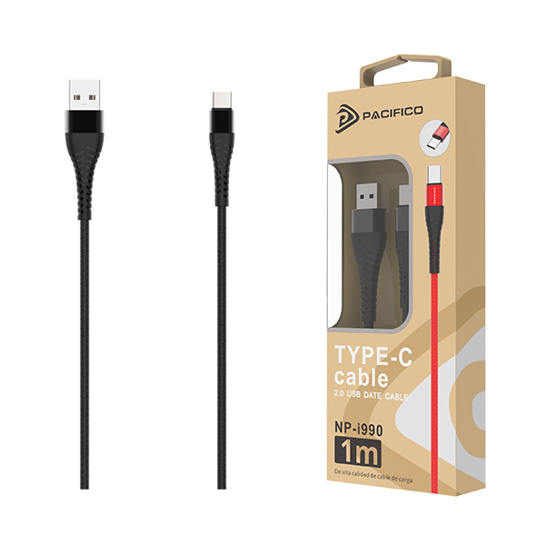 Cable usb-tipo c np-i990 – negro 1