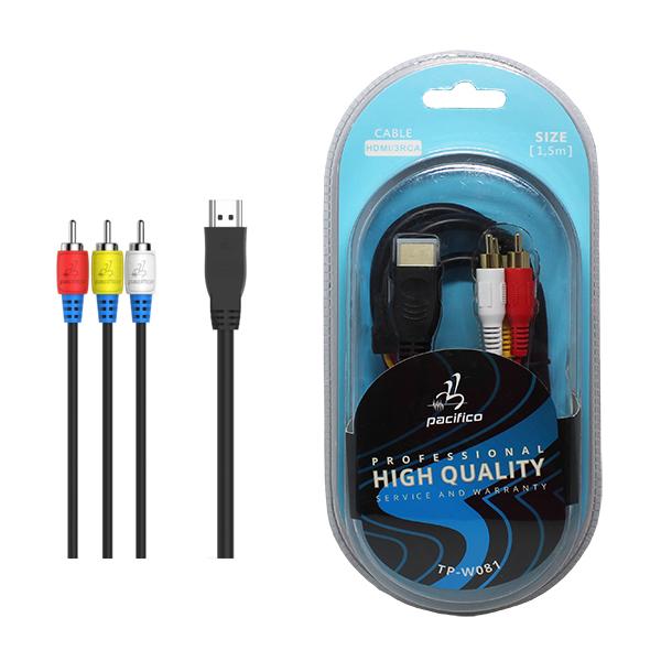 Cable hdmi m/3rca m 1. 5m – tp-w081 1