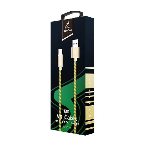 Cable micro usb v8 1m – tp-i010 – amarillo 3