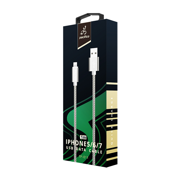 Cable iphone 6 1m – tp-i011 – gris 3