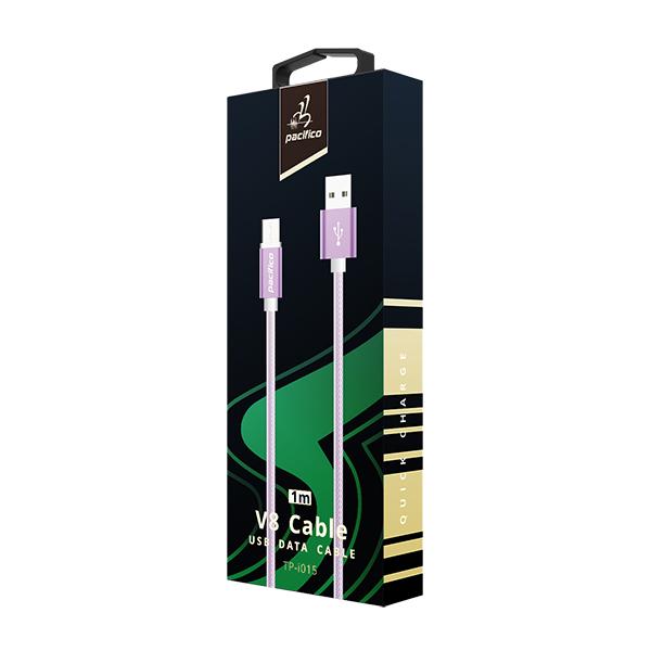 Cable micro usb v8 1m – tp-i015 – morado 3