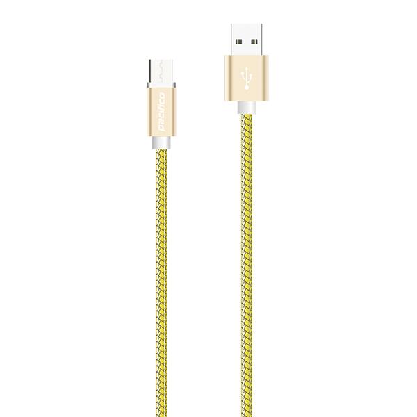 Cable micro usb v8 1m – tp-i010 – amarillo 2